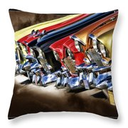 Chevy Line Up Throw Pillow