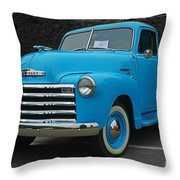 Chevy Pick-up With Bw Background Throw Pillow