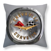 Chevy Racing Flags Throw Pillow