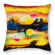 Cheyenne Sunset Throw Pillow