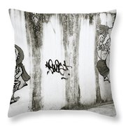 Chiang Mai Graffiti Throw Pillow