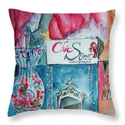 Chic Street Consignments Throw Pillow