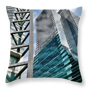 Chicago - A Sophisticated Finance Hub Throw Pillow by Christine Till
