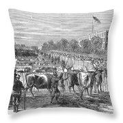 Chicago: Cattle Market Throw Pillow