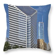 Chicago Crain Communications Building - Former Smurfit-stone Throw Pillow