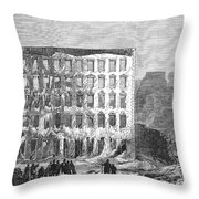 Chicago: Fire, 1868 Throw Pillow