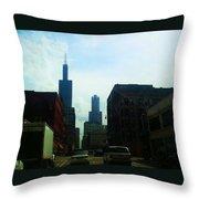 Chicago Flow Throw Pillow