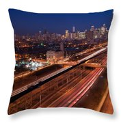 Chicago Illumina Throw Pillow