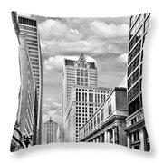 Chicago Lasalle Street Throw Pillow