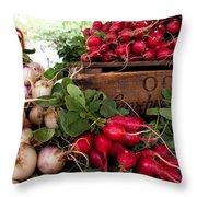 Chicago Market Throw Pillow