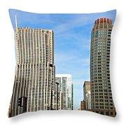 Chicago Panorama 1 Throw Pillow