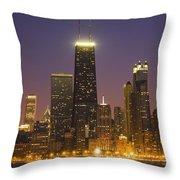 Chicago Skyscrapers With John Hancock Throw Pillow