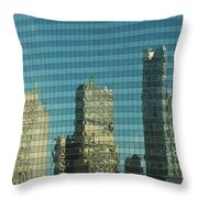 Chicago Window Reflections Throw Pillow