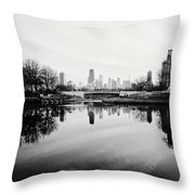 Chicago's North Pond Throw Pillow
