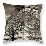 Chichen Itza Blk And White Throw Pillow