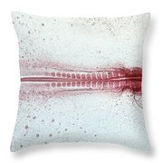 Chick Development 612 Throw Pillow by Science Source