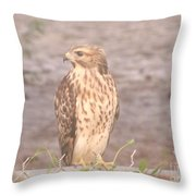 Chicken Hawk 2 Throw Pillow