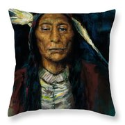 Chief Niwot Throw Pillow