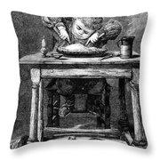 Child Eating, 1875 Throw Pillow