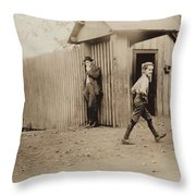 Child Goes To Work At Mill In Alabama - 1910 Throw Pillow