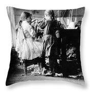 Child Labor Throw Pillow