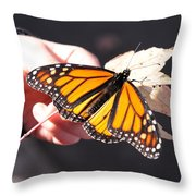 Child With Butterfly Throw Pillow