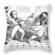 Children And Bat Throw Pillow