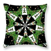Children Animals Kaleidoscope Throw Pillow