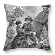 Children Dancing Throw Pillow