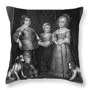 Children Of Charles I Throw Pillow