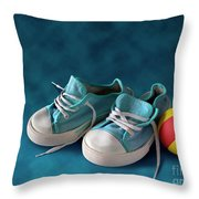 Children Sneakers Throw Pillow
