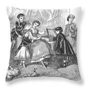 Childrens Fashion, 1868 Throw Pillow