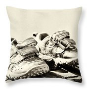 Children's Trainers Throw Pillow