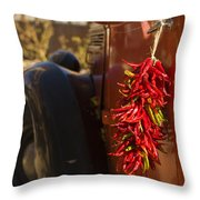 Chile Hang From The Door Of An Old Throw Pillow