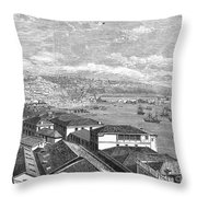Chile: Valparaiso, 1865 Throw Pillow