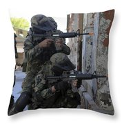 Chilean Marines Participate Throw Pillow