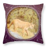 Chilean Puma Throw Pillow