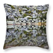 Chimney Pond Reflections Throw Pillow