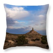Chimney Rock On The Oregon Trail Throw Pillow