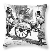 China: Famine, 1877 Throw Pillow
