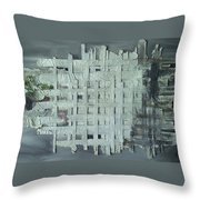 China Ghost Town-abandon Building Throw Pillow