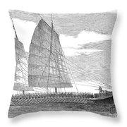 China: Junk, 1857 Throw Pillow