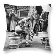 China: Manchuria, C1906 Throw Pillow