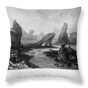 China: Wuyi Shan, 1843 Throw Pillow