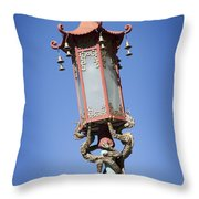 Chinatown Dragon Light Throw Pillow