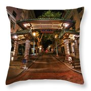 Chinatown Entrance Throw Pillow