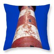 Chincoteague Lighthouse Throw Pillow
