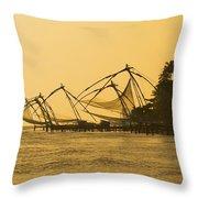 Chinese Fishing Nets Throw Pillow