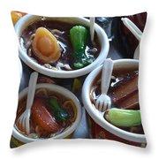 Chinese Food Miniatures 1 Throw Pillow
