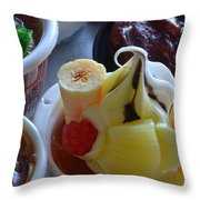 Chinese Food Miniatures 2 Throw Pillow